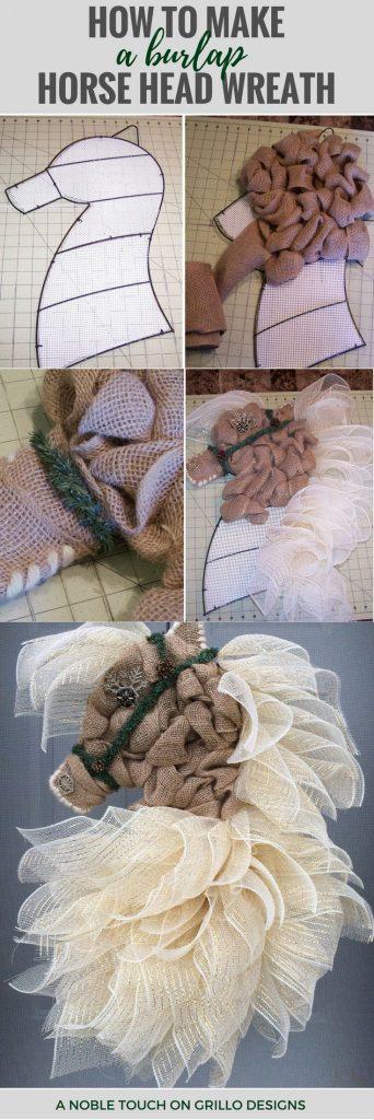 easy diy video tutorial for a horse head wreath / Grillo Designs www.grillo-designs.com