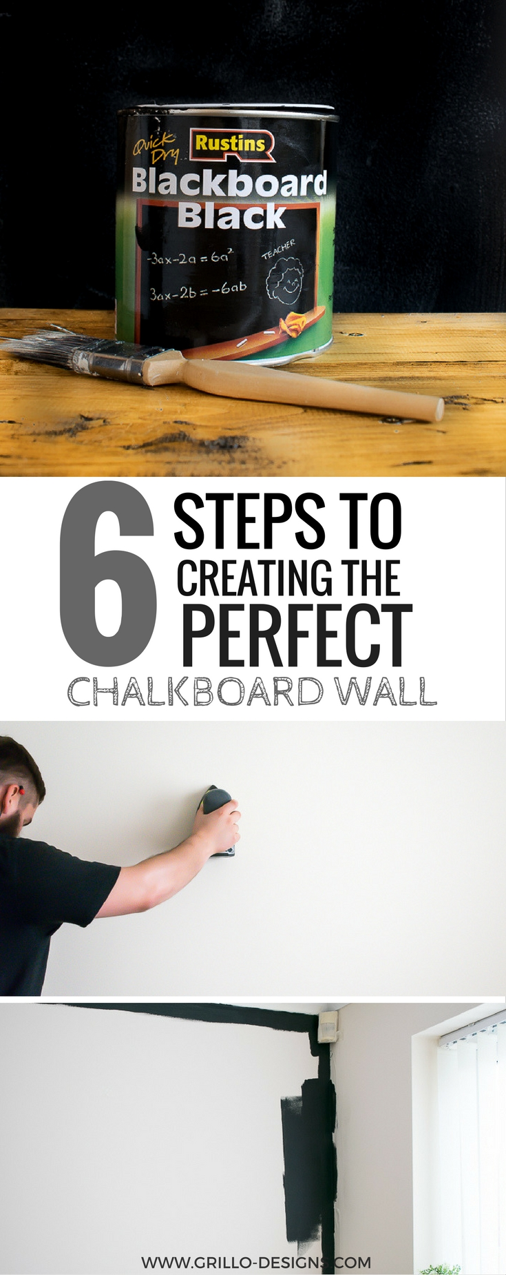 6 steps to creating the perfect chalkboard wall grillo - How to prepare walls for painting in a few easy steps ...