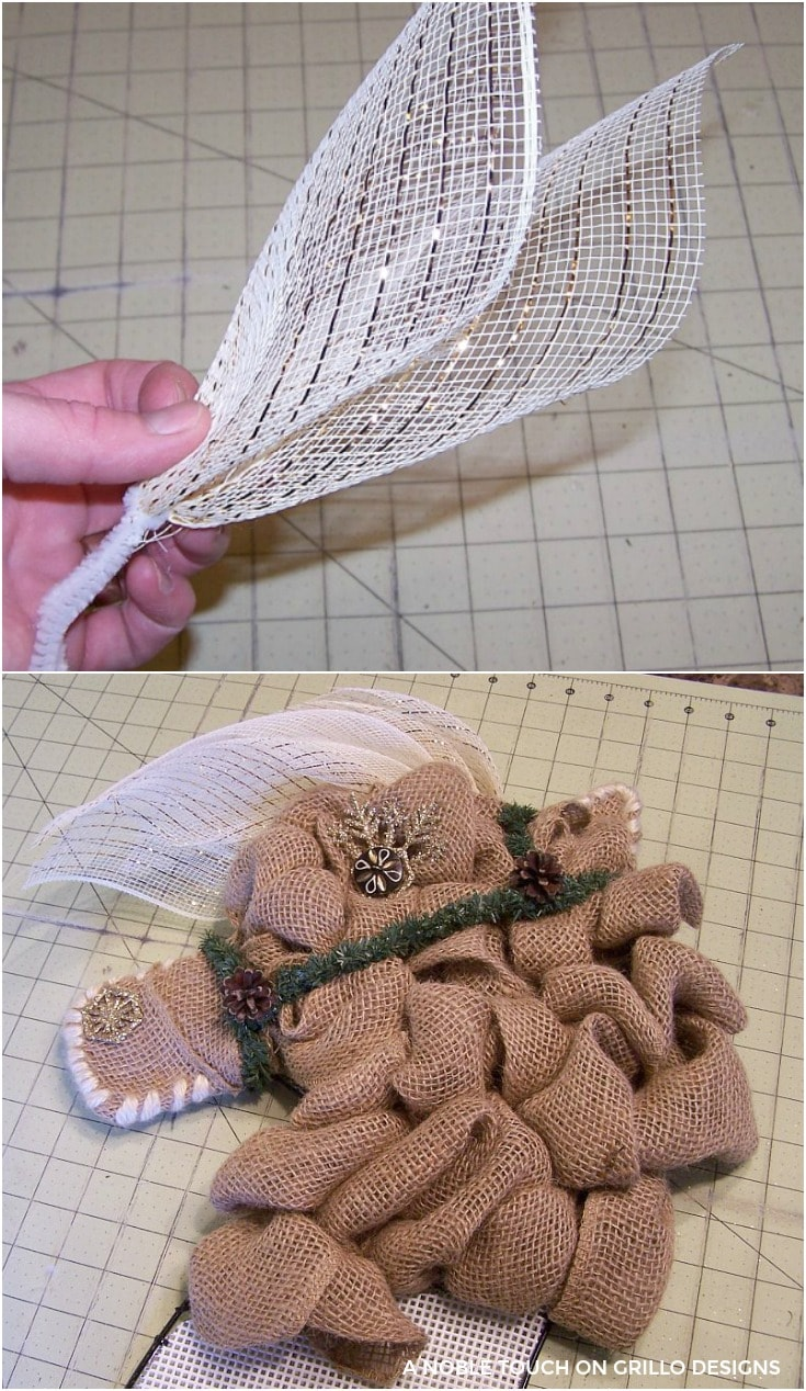 the mesh becomes the mane for horse head wreath / Grillo Designs www.grillo-designs.com