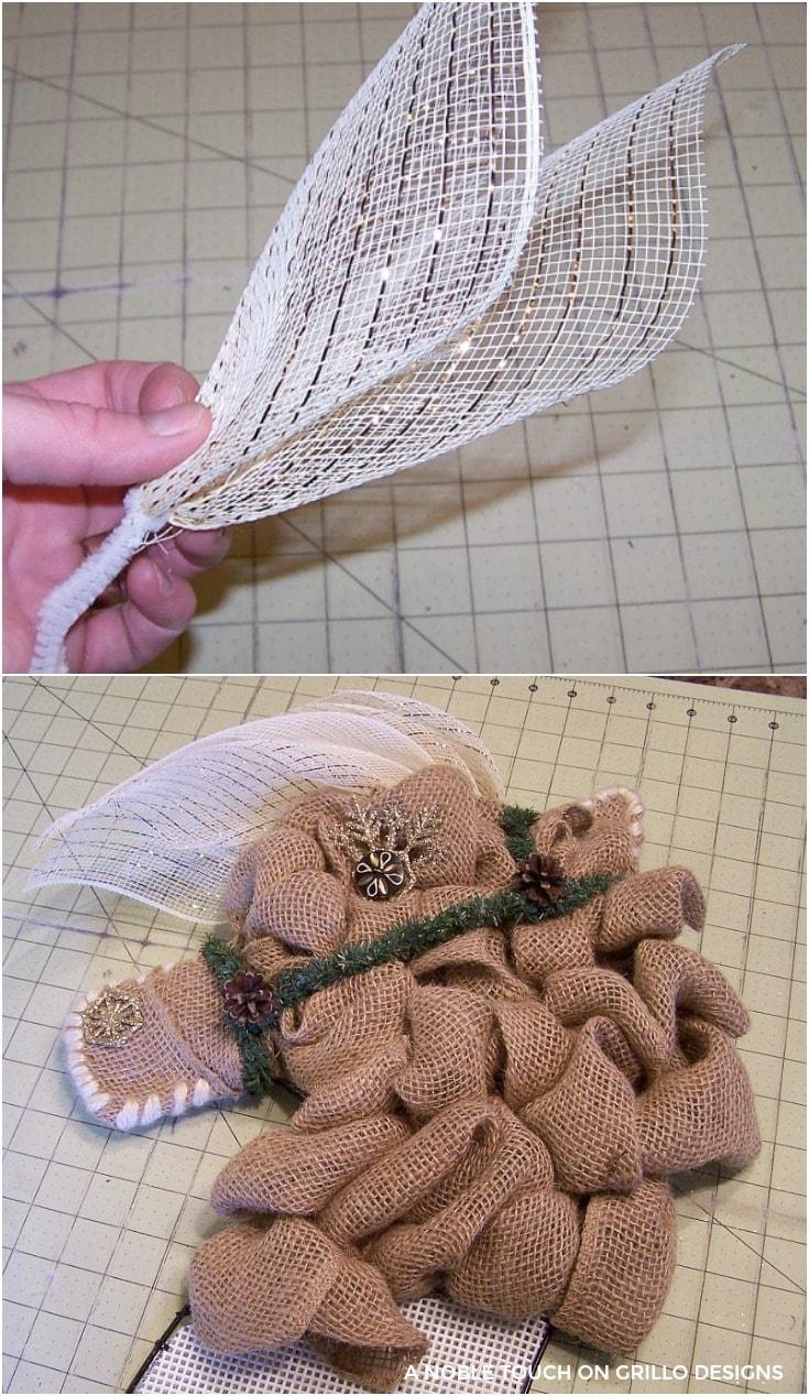 the mesh becomes the mane for horse head wreath / Grillo Designs www.grillo-designs.com