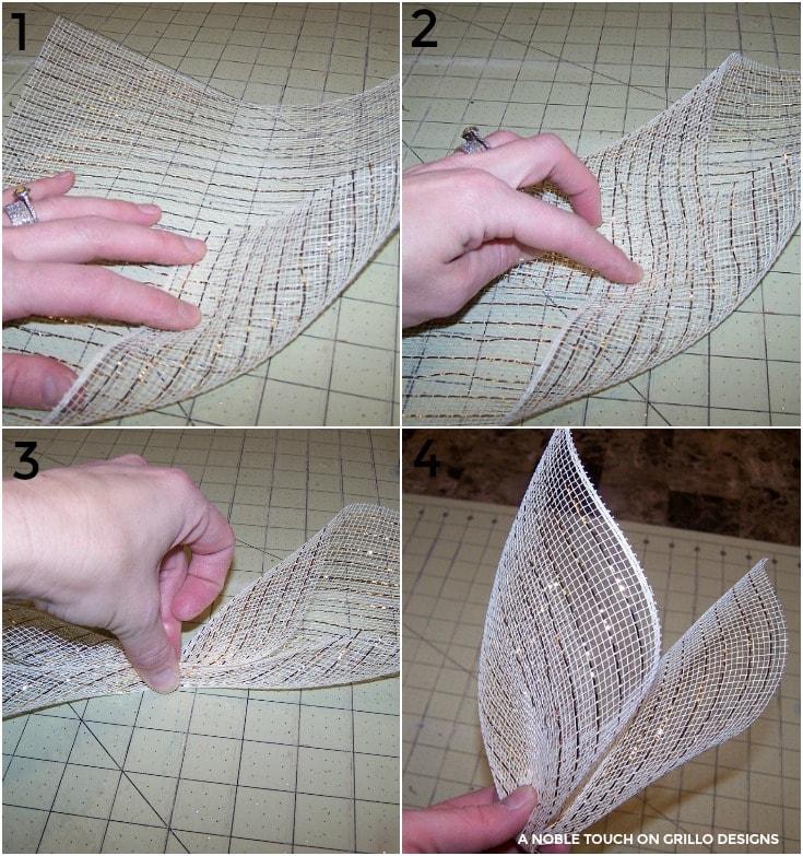 using mesh to make the horse head wreath /Grillo Designs www.grillo-designs.com