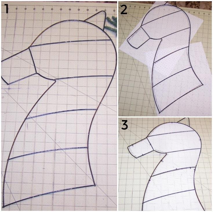 template for horse head wreath tutorial / Grillo Designs www.grillo-designs.com