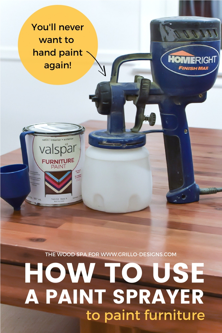 How to use a paint sprayer / Grillo Designs