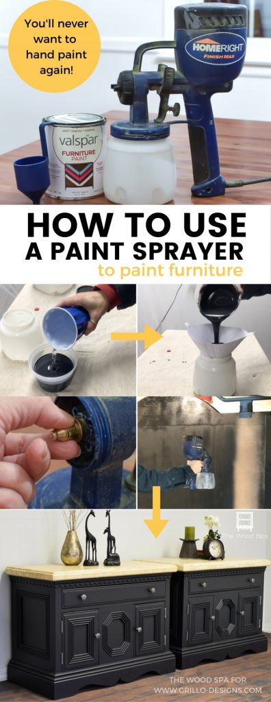 A DIY step by step guide on how to use a paint sprayer / Grillo Designs www.grillo-designs.com
