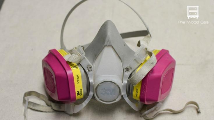 wear a respirator mask when using a paint sprayer / Grillo Designs www.grillo-designs.com