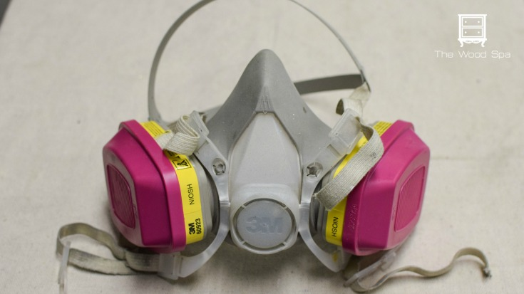 wear a respirator mask when using a paint sprayer / Grillo Designs www.grillo-designs.com