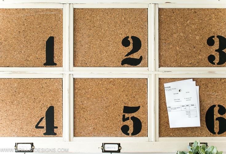 Diy bulletin board made from cork boards / Grillo Designs www.grillo-designs.com