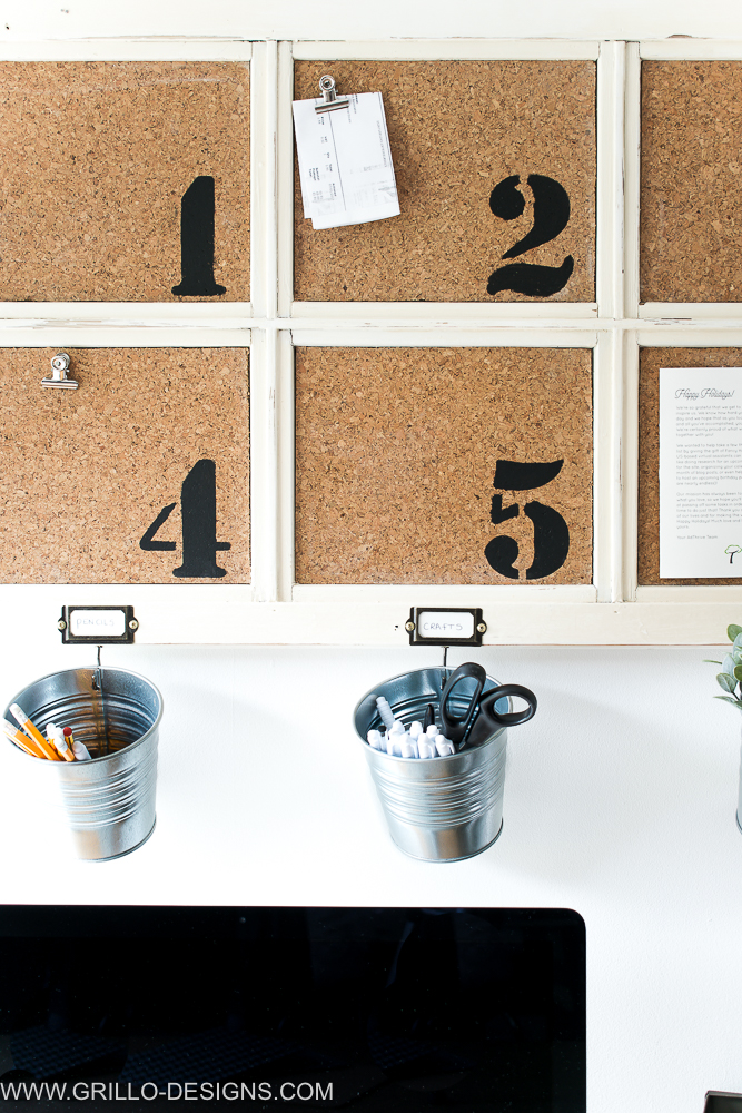 easy diy bulletin board for an office space / grillo designs www.grillo-designs.com
