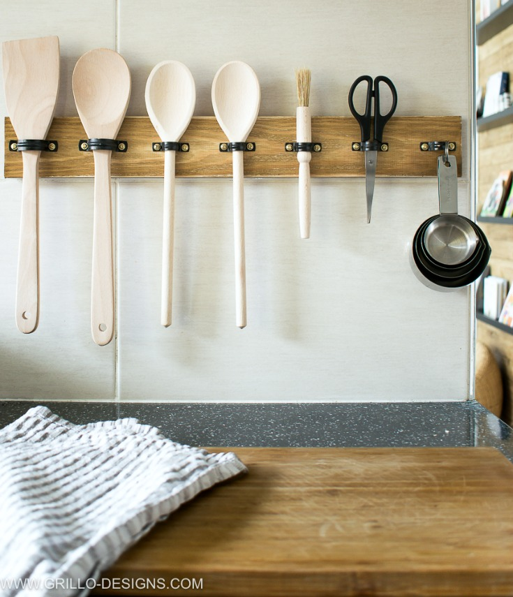 Make a diy utensil hanging rack in 10 mins grillo designs industrial style diy utensil holder grillo designs grillo designs workwithnaturefo