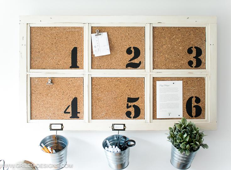 diy bulletin board with IKEA SOCKER plant pots / grillo designs www.grillo-designs.com