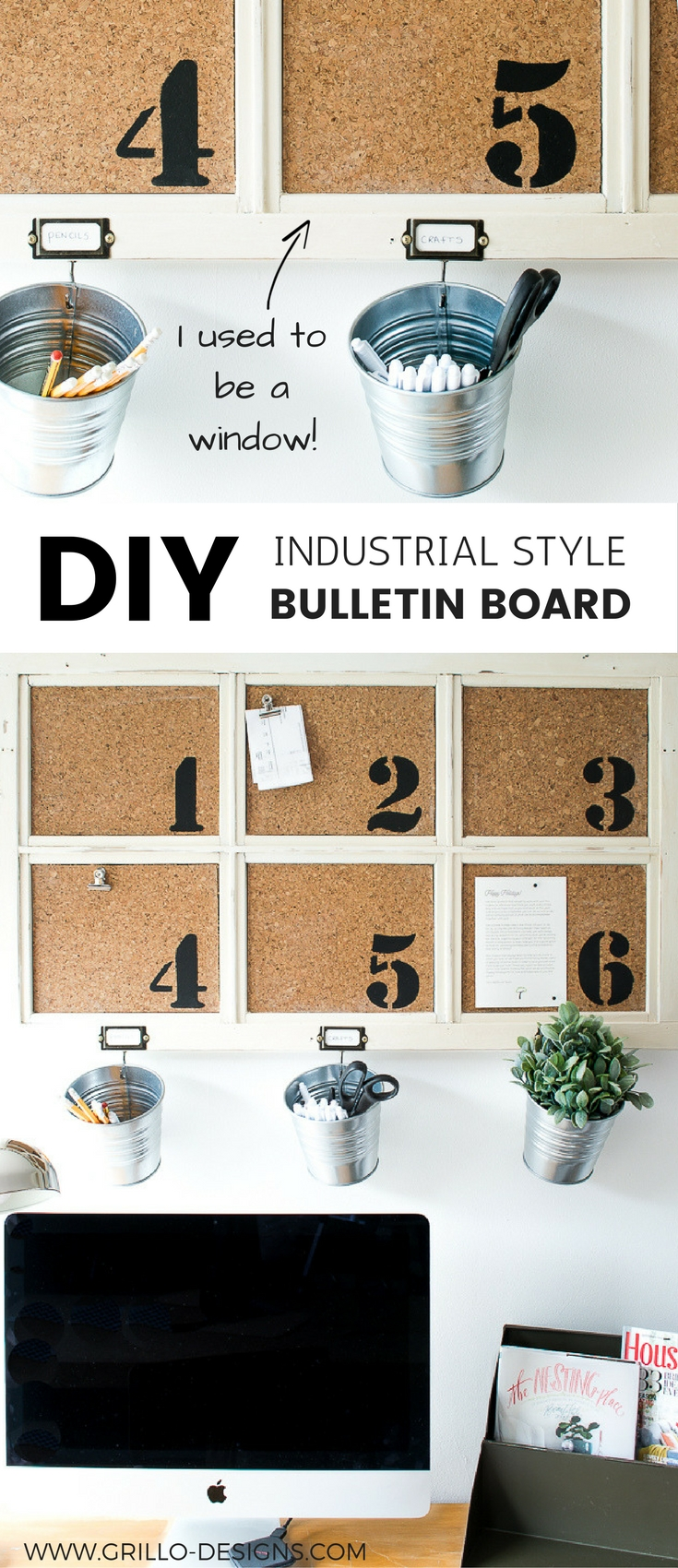 Industrial Diy Bulletin Board From A Repurposed Window