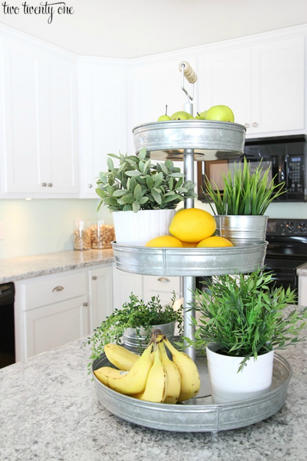 Tiered Stand For Fresh Produce Helps To Declutter Kitchen Counters Via The  Twenty One / Grillo