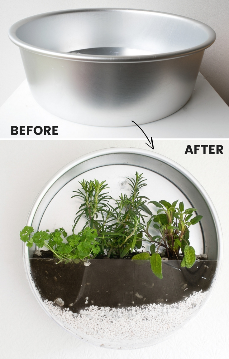 Before and after of diy herb planter / grillo designs www.grillo-designs.com