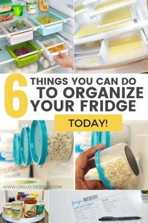 Easy fridge storage ideas / Grillo Designs www.grillo-designs.com