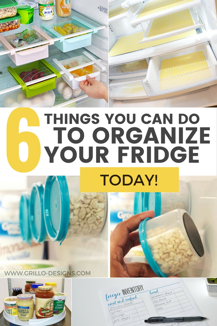 fridge organization tips and tricks / grillo designs www.grillo-designs.com