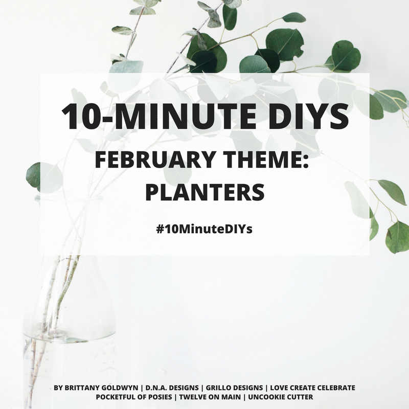 10 minute diy challenge - this months theme is herb planters / grillo designs www.grillo-designs.com