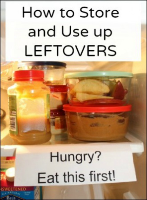 How Should Left Over Food Be Stored