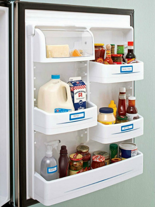 labelling fridge door for fridge organization / grillo designs www.grillo-designs.com