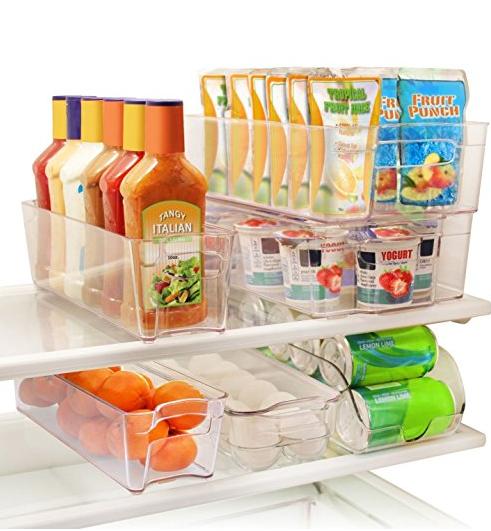 clear stackable fridge storage bins via amazon / grillo designs www.grillo-designs.com