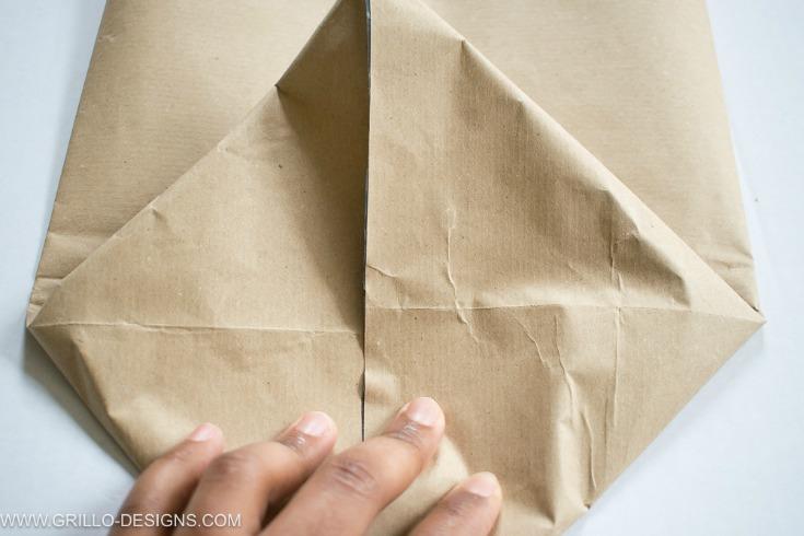 Make a diamond shape in your planter bags base / grillo designs www.grillo-designs.com