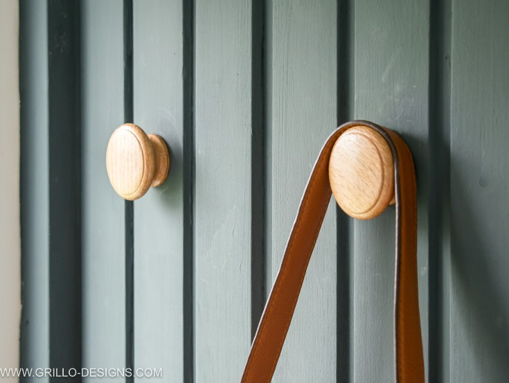 Wall hooks in the wall use as a coat rack / Grillo Designs www.grillo-designs.com