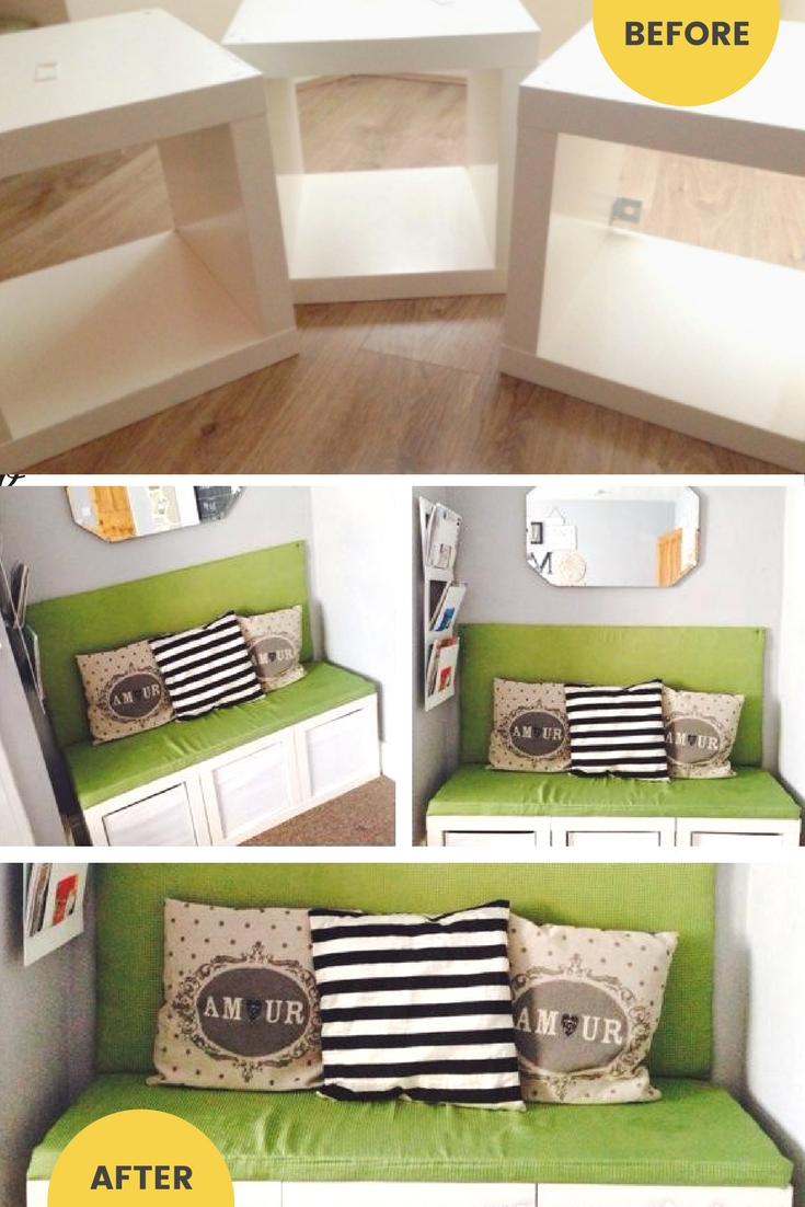 5 upcycled bench ideas from repurposed furniture Repurpose ikea furniture