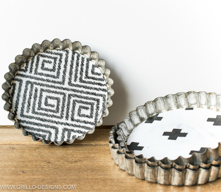 how to make coasters that are industrial and rustic / grillo designs www.grillo-designs.com
