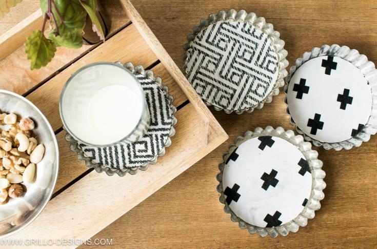 how to make coaster using fabric / grillo designs www.grillo-designs.com