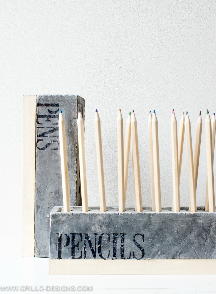 Organize your pencils with this diy pencil holder / grillo designs www.grillo-designs.com