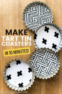 Related post to three tiered stand. how to make coasters from tart tins /Grillo designs www.grillo-designs.com