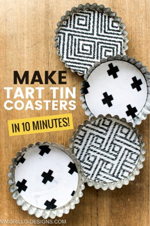 10 min diy coasters from tart tins