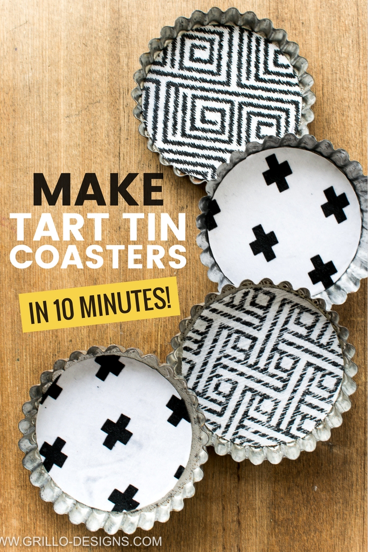 Easy tutorial on how to make coasters from old vintage tart tins/pans / grillo designs www.grillo-designs.com
