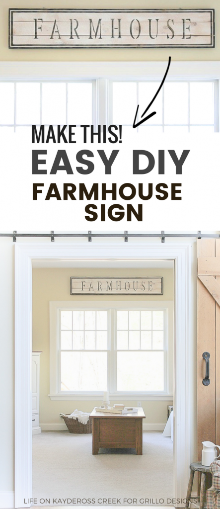Learn how to make a DIY farmhouse sign that adds character to your home using simple craft paint and stencils. Create unique farmhouse décor for your home.