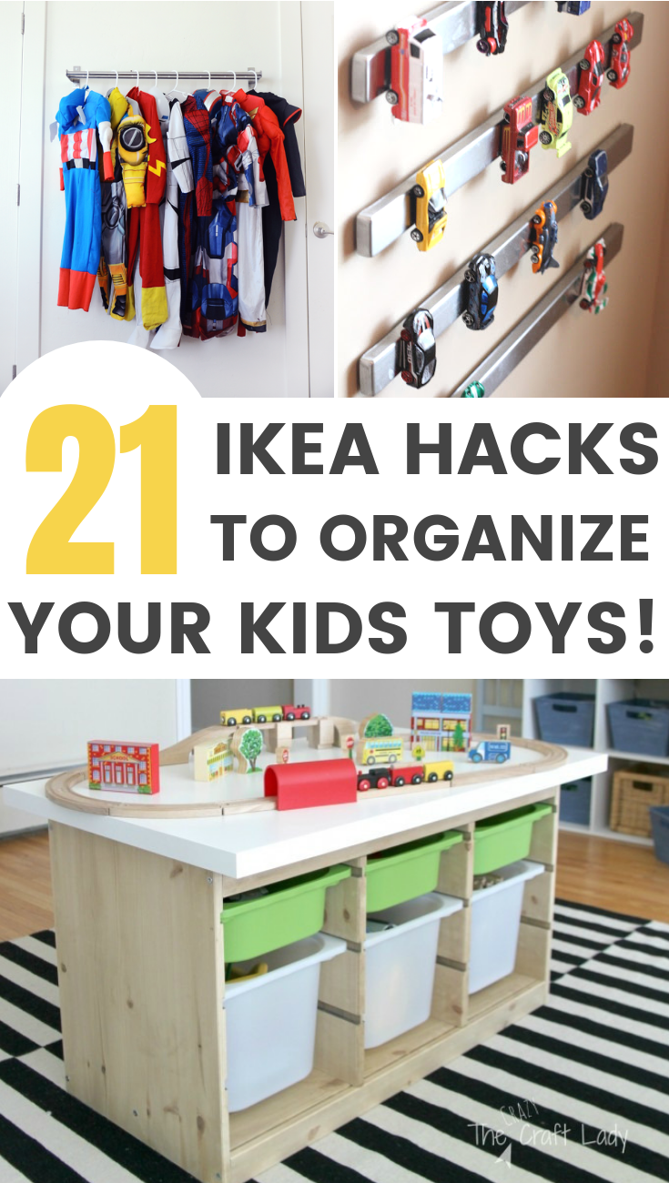 Affordable IKEA Hack ideas for toy storage / Grillo Designs