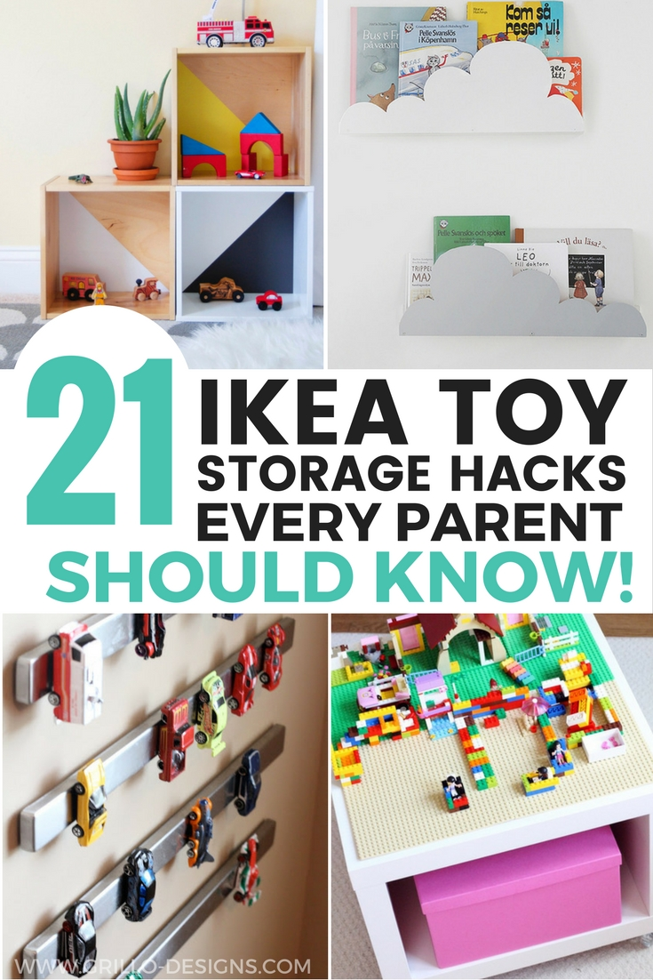 21 IKEA toy storage hacks will help you to get organised on a minimum budget / Grillo Designs www.grillo-designs.com