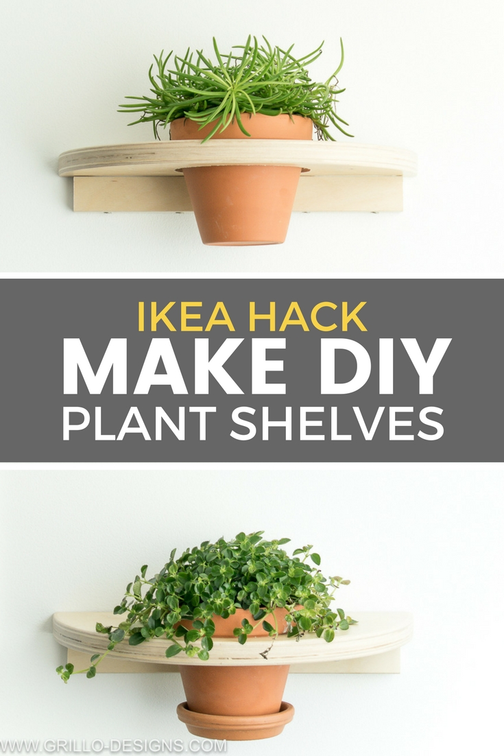 If you enjoy finding fun ways to display your plants in your home, you'll love this IKEA FROSTA hack! / Grillo Designs www.grillo-designs.com