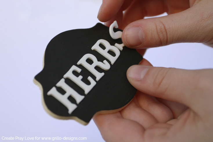 Make a 'herb' sign for your repurposed teapot planter/ Create Pray Love for www.grillo-designs.com