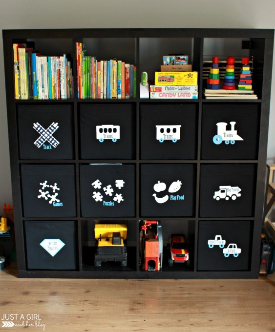 IKEA TOY STORAGE HACKS - LABEL TOY STORAGE BINS / GRILLO DESIGNS