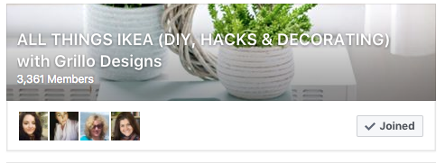 IKEA hacks group on facebook /Grillo Designs www.grillo-designs.com