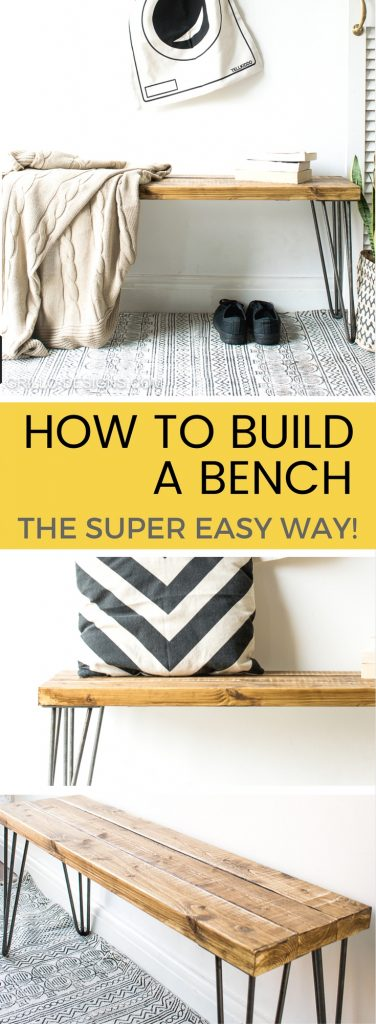 If you've suddenly decided your home (or garden) is in need of a bench, why not try making a bench yourself! In this tutorial, I'll show you how to build a bench - THE EASY WAY! / grillo designs www.grillo-designs.com