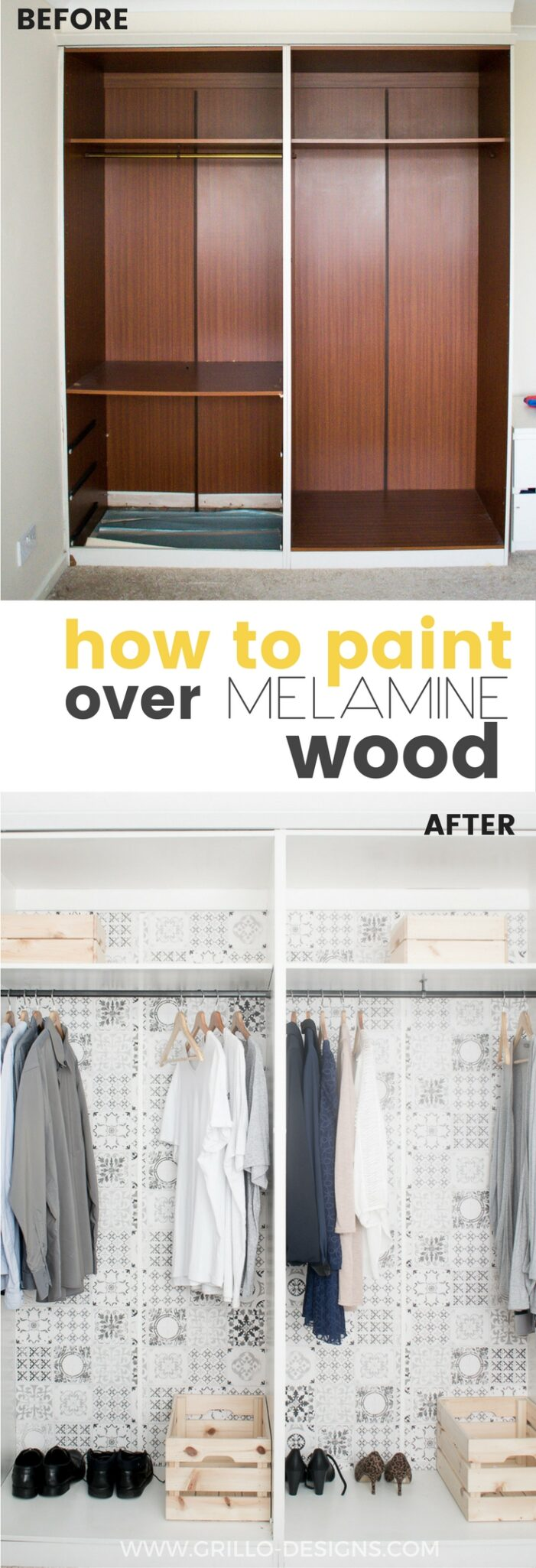 How To Paint Melamine Wood And Live To Tell The Tale Grillo Designs