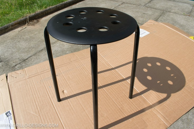 Paint The Black Ikea Marius Stool / Grillo Designs Www.grillo Designs.com