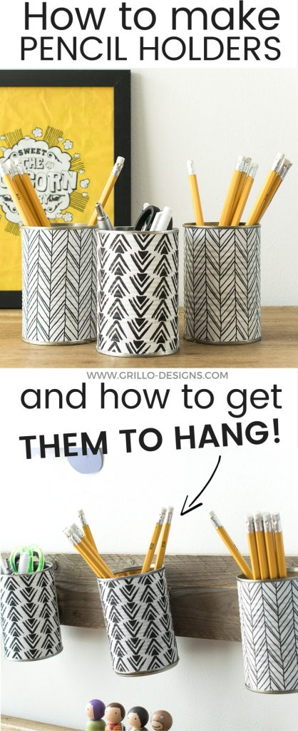 How To Make A Pencil Holder From Empty Tin Cans Grillo