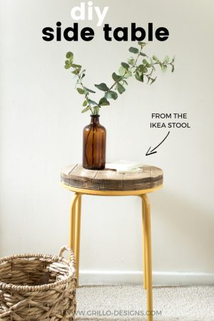 diy side table using the ikea stool / grillo designs