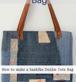 Other non pallet side table projects: How to make a denim tote bag /Vicky Myers Creations on Grillo Designs Blog