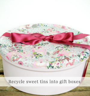 Other non pallet side table projects: Recycled sweet tin! / Vicky Myers Creations on Grillo Designs Blog