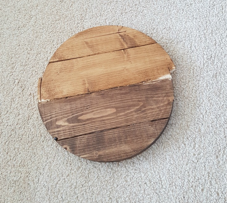 Failed table top for industrial side table / Grillo Designs www.grillo-designs.com