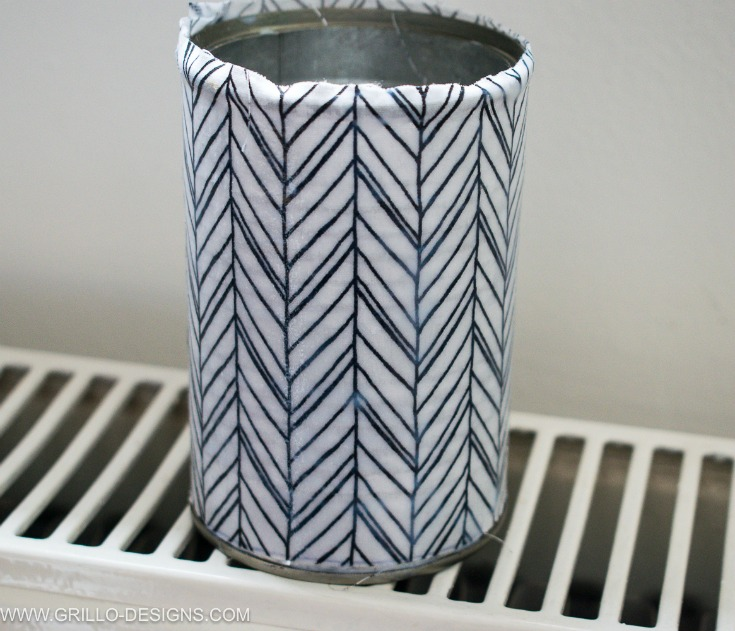 Allow the pencil holder to dry on radiator / Grillo Designs www.grillo-designs.com