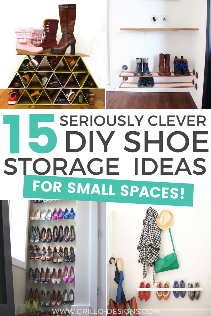 15 clever diy shoe storage ideas grillo designs. Black Bedroom Furniture Sets. Home Design Ideas