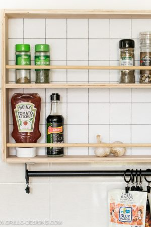 How to build a spice rack/ grillo designs